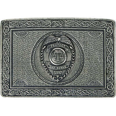 Protect and Serve Law Enforcement Belt Buckle - Made In Scotland