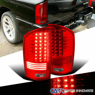 02-06 Dodge Ram Pickup Red LED Parking Tail Lights Rear Brake Lamps Left+Right