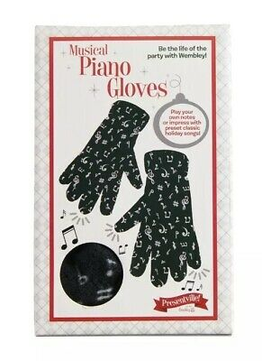 Wembley Presentville Christmas Musical Battery-Operated Piano Gloves