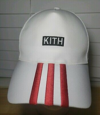 33c85f29 ADIDAS KITH SOCCER Hat White 3 Red Stripe Ronnie Fieg (T1) - $49.99 ...