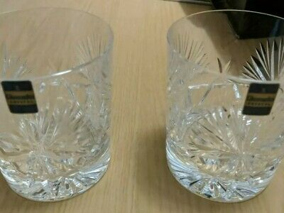 Gleneagles Whisky Glasses (High Quality Crystal, Never Used) Set Of 2