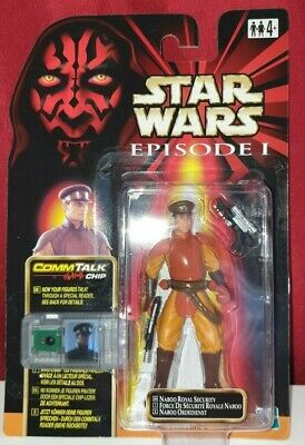 Naboo Royal Security Figure Star Wars Episode 1 CommTalk Hasbro 1999 Collectable
