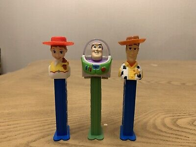 Woody Buzz Jessie Pez Empty Dispenser PVC Action Figure Disney Pixar Toy Story
