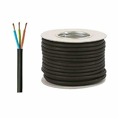 Black 3183P Outdoor Rubber Flexible Pond Cable 3 Core 0.75mm 6 Amp Cut To Length