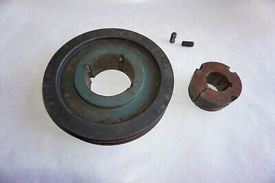 """2 Grove Pulley Sheave 9"""" with 1 5/8"""" bore"""