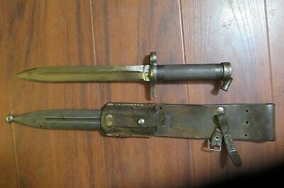 old bayonet in scabbard