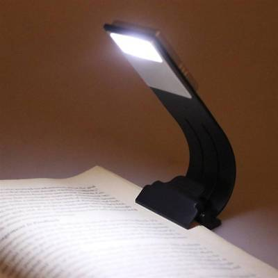 Portable LED Reading Book Light Detachable Magnetic Clip USB Rechargeable TIP