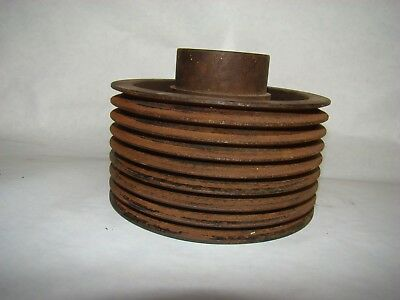 """6 5/16"""" x 2.166 bore 8 Groove Pulley Good for Industrial Art Decor Lamp Base"""