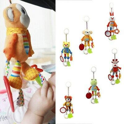 Infant Baby Plush Animal Rattles Stroller Music Hanging Bell Toys Soft Doll US