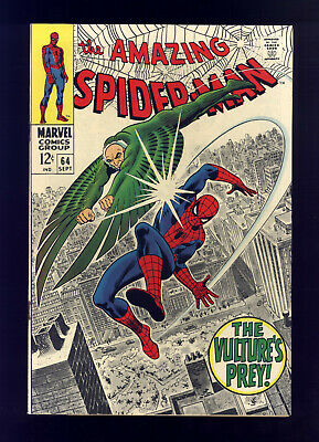 Amazing Spider-Man #64 FN Romita, Vulture, Mary Jane, Gwen Stacy, Aunt May