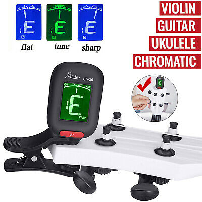 Acoustic LCD Electric Chromatic Clip-On Tuner - Guitar, Ukulele,Violin & Banjo