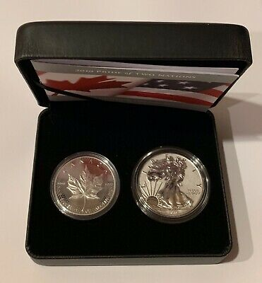 2019 US Mint/RCM Pride of Two Nations Two-Coin Sets - Both Canada & US Versions
