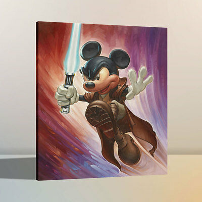 HD Oil Painting Art Print Canvas Disney Mickey Hero Home Wall Decor 12x16