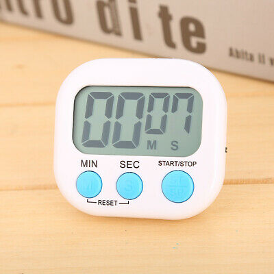 LCD Digital Kitchen White Timer Cooking Baking BBQ Countdown Loud Alarm Magnetic