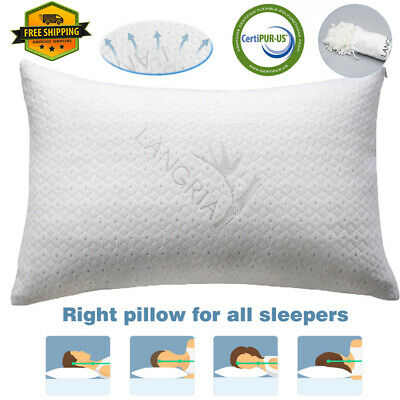 Memory Foam Bed Pillow Classic Washable Bed Pillows Hypoallergenic CertiPUR-US
