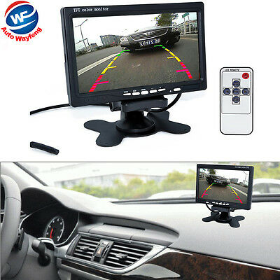 "7"" TFT LCD Color HD Mirror Monitor for Car Reverse Rear View Backup Camera DVD !"