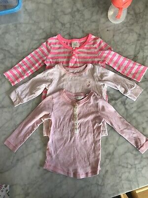 3 X LONG SLEEVE TOPS TEES Seed Country Road Cotton On baby girl shirt Bundle X 3