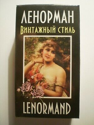 New Tarot Lenormand 36+36 Cards Deck in Russian + manual Карты Таро Ленорман