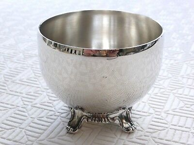 Vintage Oneida Canada Silver Plated Sugar Bowl With Patterned Feet   1400237/241
