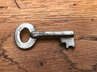 early 1900s brass key - padlock ?  ( hollow bore ) ref 8
