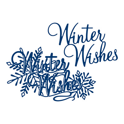 Tattered Lace Winter Wishes Sentiment 3D Decoupage Craft Cutting Die - 471190