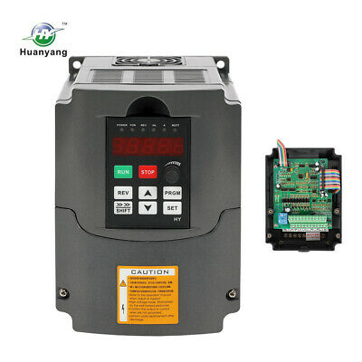 New 3HP 10A 220V 2.2KW Variable Frequency Drive VFD Huanyang Inverter High Speed