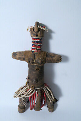 Alte originale Puppe 33cm AS60 Old used Doll Kamerun Tschad Pouppee Afrozip
