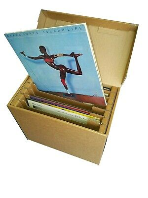 """1 x 12"""" Vinyl Record Storage Cardboard Archive Box - Holds up to 50 LPs"""
