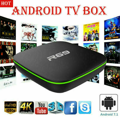 Smart Tv Box R69 Android 7.1 4K 1Gb Ram 8 Gb Rom Iptv Smart Decoder Full Hd 3D