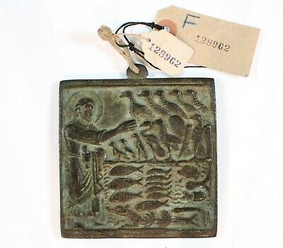 12th - 14th Century Byzantine Empire Bronze Genesis Icon