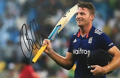 Jos Buttler signed England 12x8 Image F photo UACC AFTAL Dealer