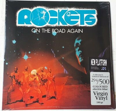 Rockets - On The Road Again Lp Vinile Colorato Blue 500 Copie Numerato Gatefold