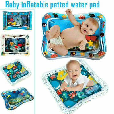 Water Filled Play Mat Inflatable Baby Water Fun Cushion for Children Play  &Pump
