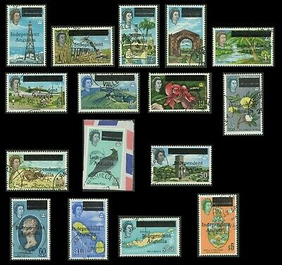 Anguilla - 1967 Independence Complete Set. Exceptional Used. SG 1-16.