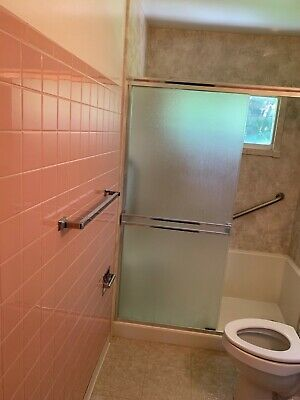 6 Vintage Mid Century LIGHT PINK Bathroom  Tiles1960's  Italy