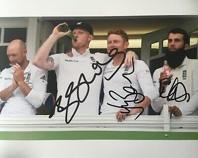 Ben Stokes Johnny Bairstow Moeen Ali signed England 10x8 photo UACC AFTAL Dealer
