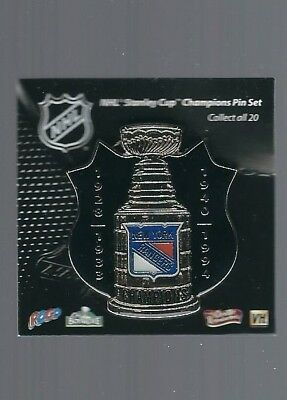New York Rangers  ''Stanley Cup Champions, 4 years''  NHL Hockey pin