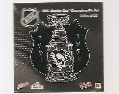 Pittsburgh Penguins  ''1991-92 Stanley Cup Champions''  NHL Hockey pin