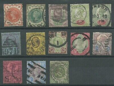 GB QV 1887-1900 'Jubilee Issue' part set good used (4121)