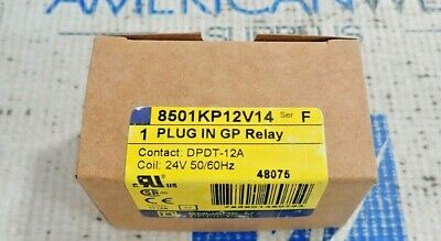 8501KP12V14 Series F 1 Plug-In GP Relay 24V Coil DPDT-12A Square D Co
