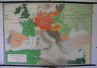 Schulwandkarte Role Map Wall Map School Map Imperial Großmacht War 140x96cm