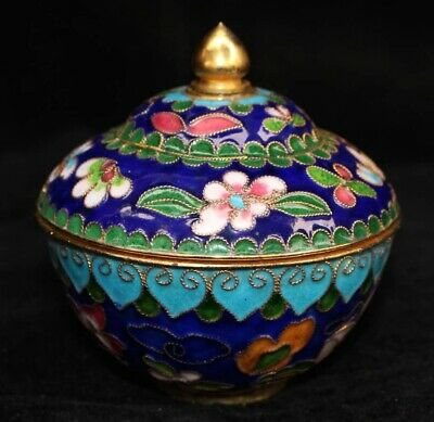 AAA Collect Qianlong Years Antique Cloisonne Carved Delicate Noble Organizer Box