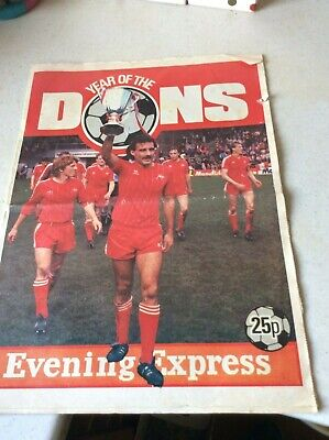 Year Of The Dons - Rare Aberdeen Ecwc Souvenir Newspaper (16 Pages)