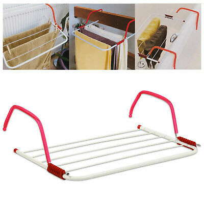 Radiator Towel / Clothes Folding 3m Airer Dryer Drying Rack Rail Bar Holder