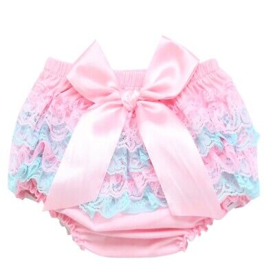 Adult Diaper  Satin Bow with lace Adult Baby Sissy Baby Diaper Cover ABDL pink