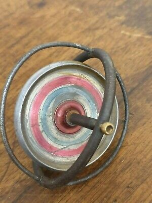 antique metal childs toy GYROSCOPE