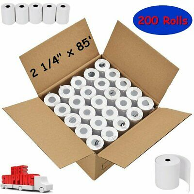 "200 ROLLS 2 1/4"" x 85' REGISTER POS THERMAL RECEIPT PAPER for FD100Ti FD130 FD50"