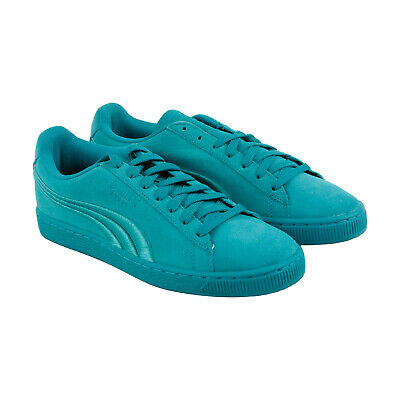 Puma Suede Classic Badge Mens Green Suede Lace Up Sneakers Shoes 8