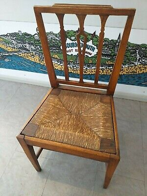 GEORGIAN regency provincial c.1820 COUNTRY fruitwood elm chair antique rush seat
