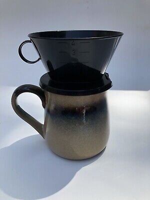 Melitta #4 Black Cone Filter Pour-Over Coffee Maker PERFECT Brew Style With MUG